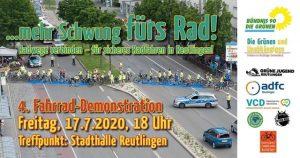 Fahrrad-Demonstration @ Treffpunkt: vor der Stadthalle